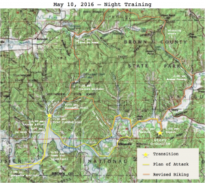 2016-5-10 Night Training Actual Route